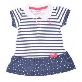 Vestido bebé niña rayas marineras