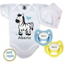 Pack regalo bebé cebra