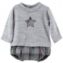 Conjunto bebé cuadros Estrella