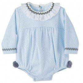 Ranita bebé pompones celeste