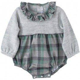 Ranita bebé cuadros gris