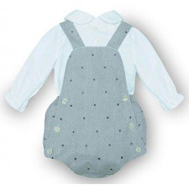 Ranita bebé gris Lunares