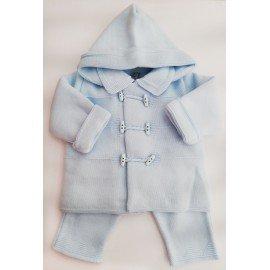 Conjunto abrigo bebé celeste