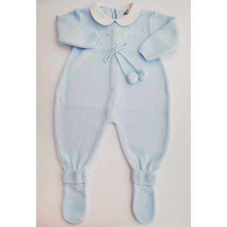 Pelele punto bebé Pompones