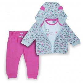 Chándal bebé rosa Conejitos