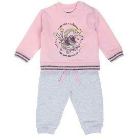 Chándal bebé rosa Patines