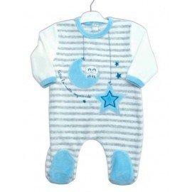 Pijama bebé rayas Luna