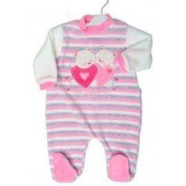 Pijama bebé Corazones