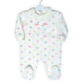 Pijama bebé Corazones Colores