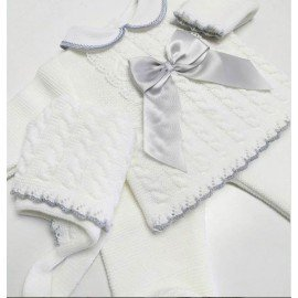 Conjunto bebé lana Blanco