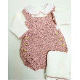 Peto bebé lana Rosa