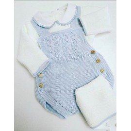 Peto bebé lana azul