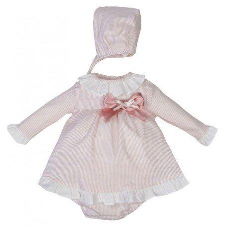 Jesusito bebé rosa con rayas