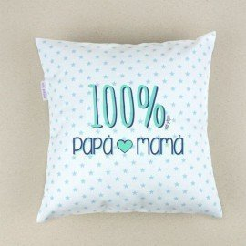 Cojín bebé 100% Papá-Mamá