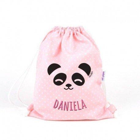Mochila bebe Panda personalizada