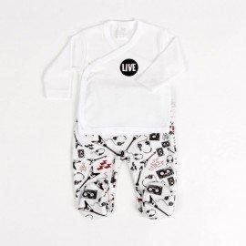 Conjunto bebé prematuro Live Blanco