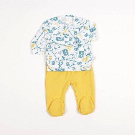 Conjunto bebé prematuro Live Amarillo