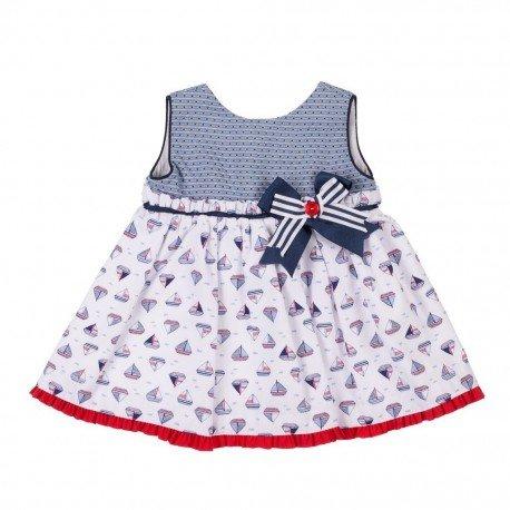 Vestido bebé niña Barcos