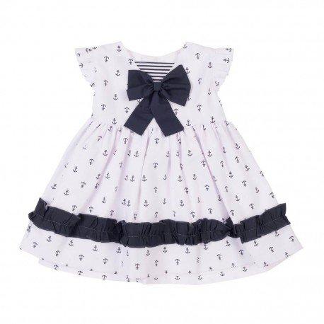Vestido bebé niña Anclas