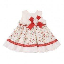 Vestido bebé niña rojo María