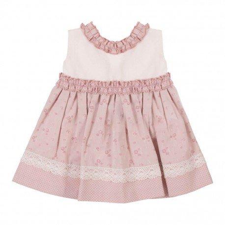 Vestido bebé niña rosa Estela