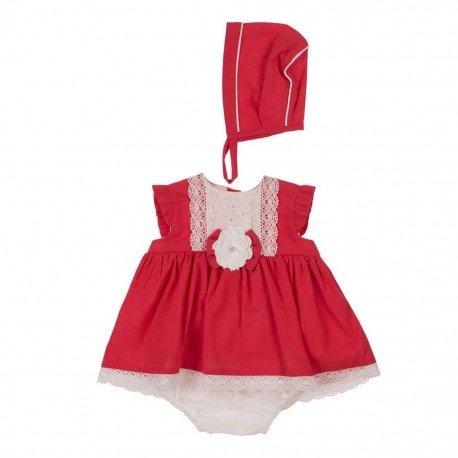 Jesusito bebé niña rojo Rocio