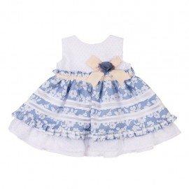 Vestido bebé flores Nerea