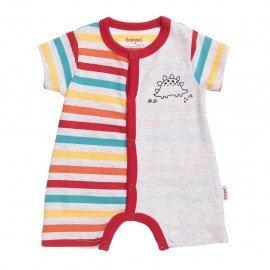 Pijama bebé niño Dino rayas