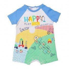 Pijama bebé niño Happy