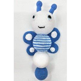 Sonajero bebé artesanal Mariposa