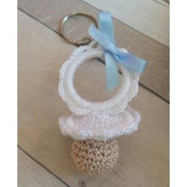 Chupete crochet llavero