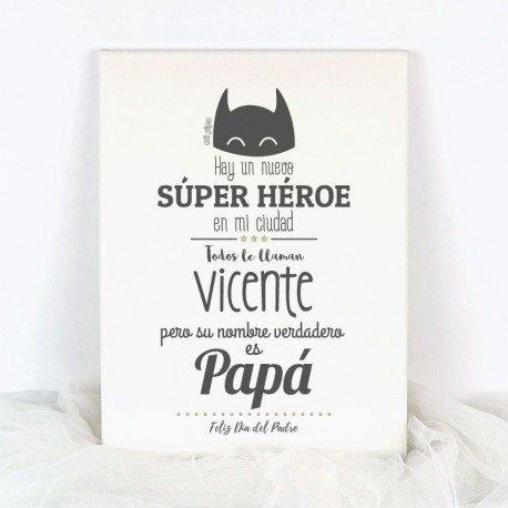 Lienzo Personalizado Súper Héroe
