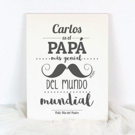 Lienzo personalizado el Papá mas Genial