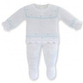 Conjunto bebé perlé blanco