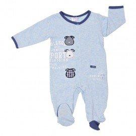 Pijama bebé celeste perritos