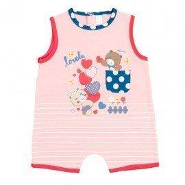 Pijama bebé rosa Ositos