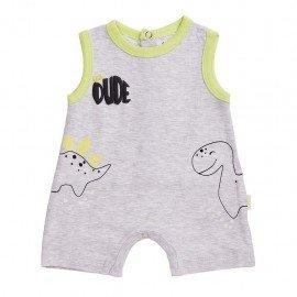 Pijama bebé gris Dinosaurio