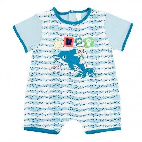 Pijama bebé niño Delfin