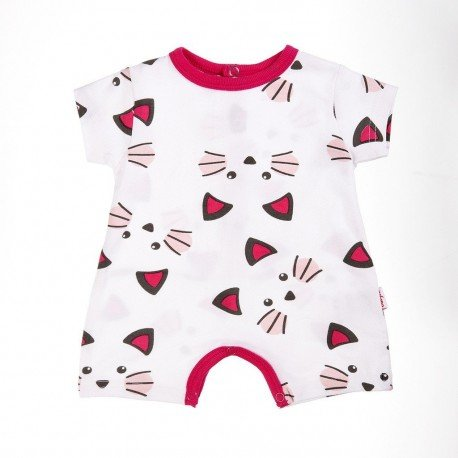 PIjama bebé rojo Gatitos