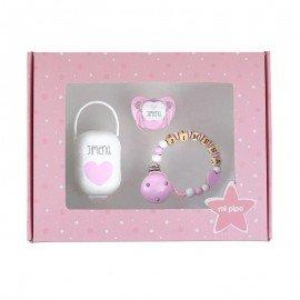 Cajita regalo My Baby Rosa Personalizada