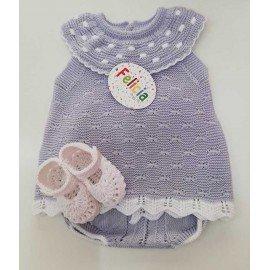 Conjunto bebé perlé gris