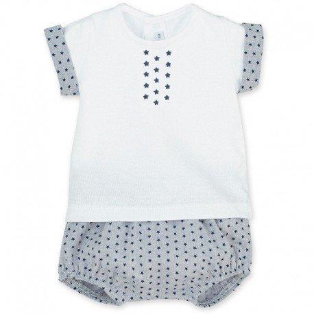 Conjunto bebé gris Estrellas