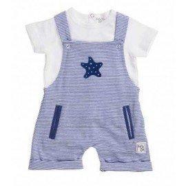 Peto bebé niño azul rayas
