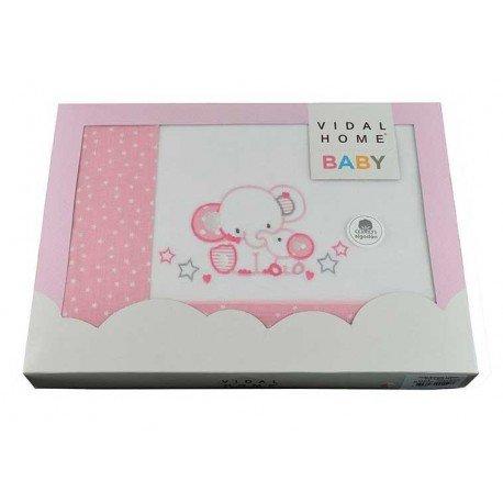 Sabanas bebé minicuna Elefantes