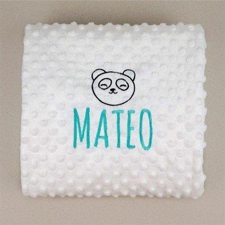 Manta personalizada bebé Oso Panda