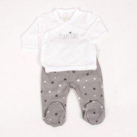 Conjunto bebé prematuro gris Starlight