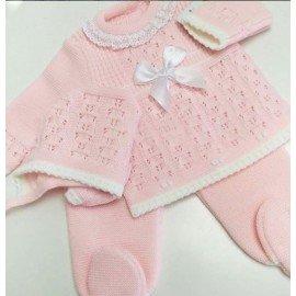 Conjunto bebé lana Rosa Laura