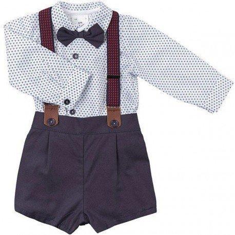 Conjunto bebé niño vestir con pajarita
