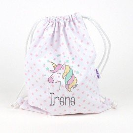 Mochila bebé Unicornio Personalizado