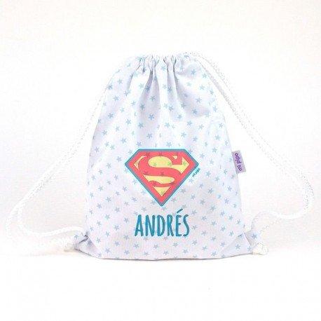 Mochila bebé Superman personalizada